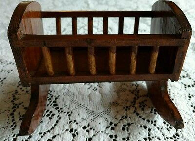 Wooden Small Baby Doll Handmade Cradle