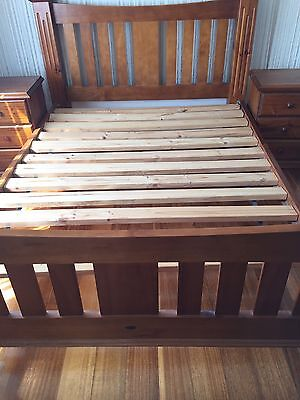 Timber Queen Bed Frame And 2 Side Tables