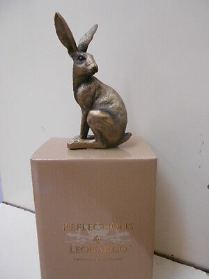 Leonardo Reflections Bronzed Sitting Hare Ornament Gift Boxed Figurine