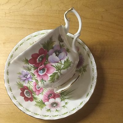 Royal Albert Flower of The Month March Cup and Saucer - China