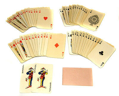BRAILLE Playing Cards Plastic Faced in Original Box Blind Persons Game