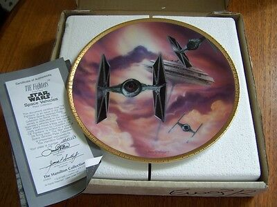 """Star Wars Hamilton Collection Plate """"Tie Fighter boxed"""