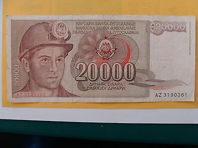 1946 1981 1987 Yugoslavia Paper Currency 50 1000 20000 Dinar