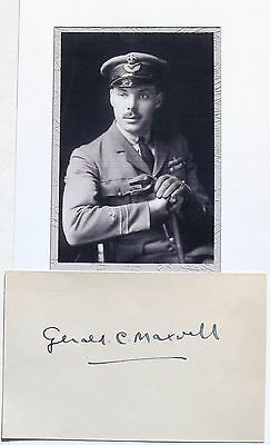 Gerald Maxwell WWI British Ace [26] Victories Royal Flying Corps Autograph