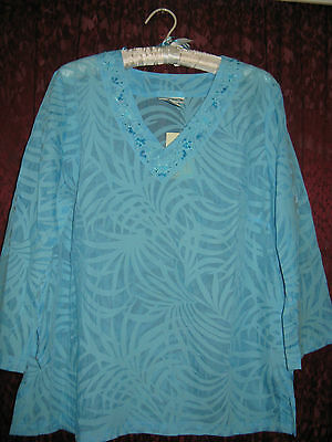 New! Lovely Turquoise Summer Top By Millers Size 14