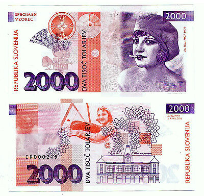 Slovenia. Private Issue. 2000 Tolarjev (2016). UNC. Ita Rina.