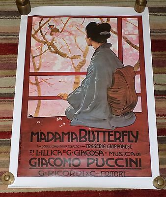 A Vintage Reproduction Old Italian Poster for Madam Butterfly Opera by Puccini