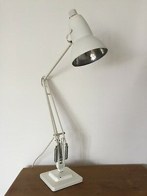 Vintage White Anglepoise 1227 By Herbert Terry 20th Century Desk Lamp Industrial