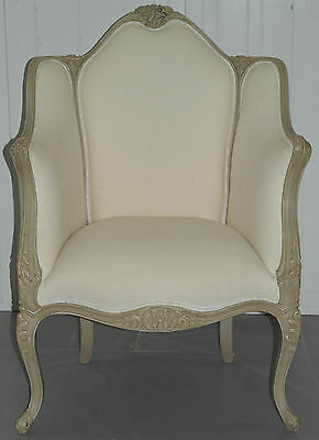 Sweet French Occasional Armchair Louis Ornate Style Floral Detailing Lovely Find