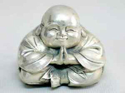 Tibet  Sitting Laughing Buddha Statue Rare Special For Show AAA