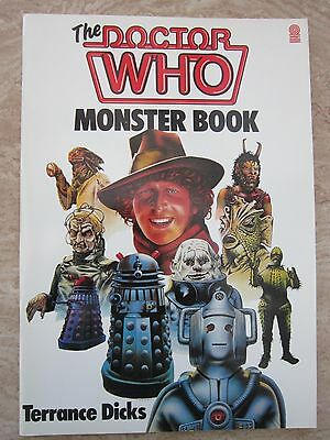 The Doctor Who Monster Book by Terrance Dicks Large paperback book