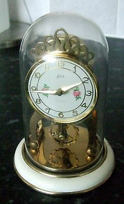 Vintage Aug Schatz & Sohne 59 Anniversary Dome Clock 8 Day Germany