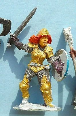 Female Fighter (Paladin) Blade Maiden. Part Painted - Metal Fantasy AD&D