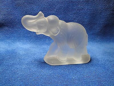 Frosted Glass Woolly Mammoth Figurine