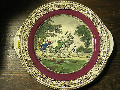 Doctor Syntax Collector Plate/PLATTER BY Adams/England -STOPT BY HIGHWAYMEN
