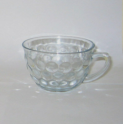 Anchor Hocking  Blue Bubble Glass  CUP  -  FGC  3.75in