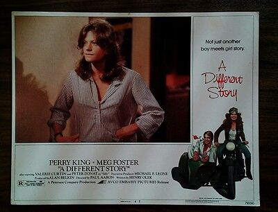 Rare 1978 Lobby Card - A Different Story - Original, 11x14, Great! Meg Foster
