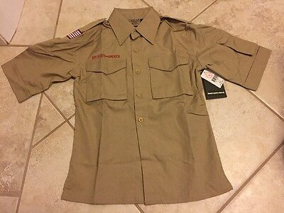 Boy Scout Youth Small S Tan Official Uniform Shirt New NWT