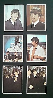 Beatles Topps Color Cards -Lot of 6 Cards