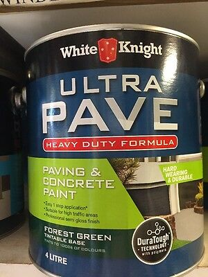 White Knight Paving & Concrete Paint Forest Green 4L Hard Wearing And Durable