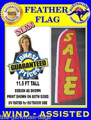 SALE flag red yellow flag wind-assisted Extra Large feather flag
