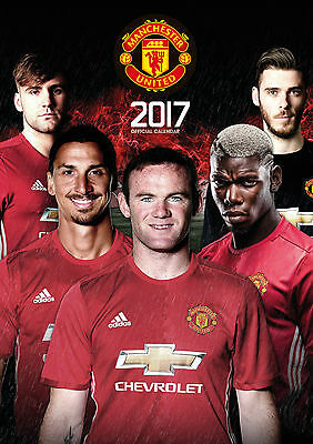 Manchester United 2017 Official Calendar Brand New 9781785492211