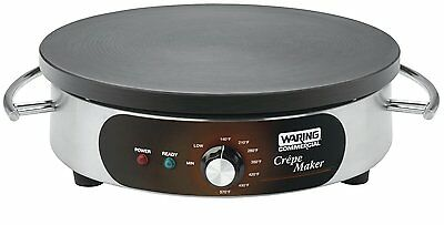 """Heavy-Duty Stainless Steel Base Cast Iron Cooking Plate Electric Crepe Maker 16"""""""