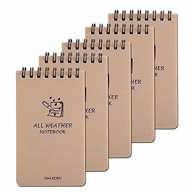 All Weather Spiral Notebooks MALEDEN Waterproof Steno Notepad Memo Scratch Pads