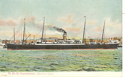 Dominion Line's four-masted VANCOUVER of 1884