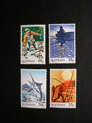 1979. Fishing In Australia. Set Of 4 Stamps. Mnh.