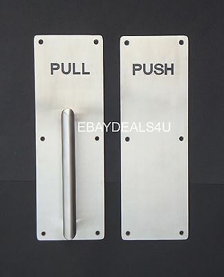 Push & Pull Door Handle Plate Stainless Steel Commercial Grade Quality 300x100 E