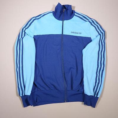 Mens ADIDAS Vintage Retro Blue Tracksuit Top Jacket Medium #C2027