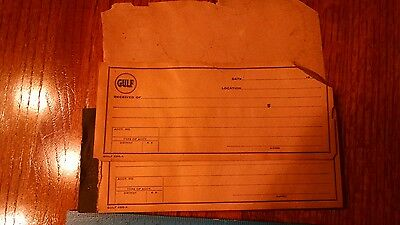 Vintage pad of Gulf Oil Receipts