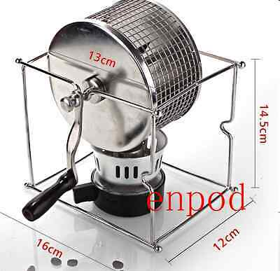 NEW Manual hand Stainless Steel Coffee Bean Roaster Machine home fast shipping
