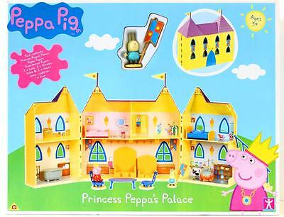 New Peppa Pig Princess Peppa's Palace Figure Pack Doll Toy Play Set Castle House