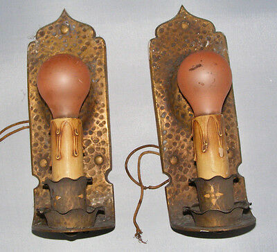 2 Antique Gothic Wall Sconces Gothic, Mission, Renaissance Medieval S & A (BX50)