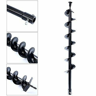 "New 30"" Auger Post Hole Digger Bit Carbon Steel 4"" inch Wide Skid Steer Drill"