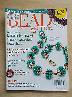 Bead & Button #121~Projects~Scallops~Soutache~Pendant~Embroidery~Rizos~Jewellery