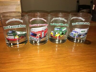 4 Hess Glasses Free Ship