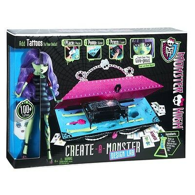 Monster High Create A Monster Design Lab And Doll Brand New X3732