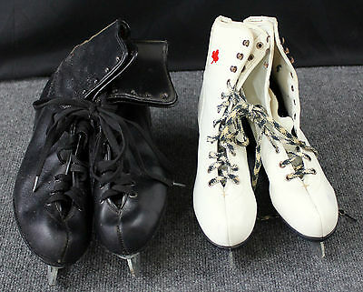 2 Pairs Of Vintage Ice Skates - Starter & Royal Canadian Icecablades