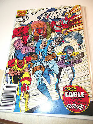 X-Force #8 Cable appearance Newsstand edition VF/NM