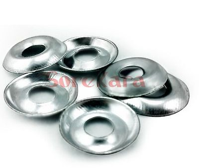 50pcs Metric M4 M5 M6 Zinc Plated Steel Countersunk Washers Multiple Length