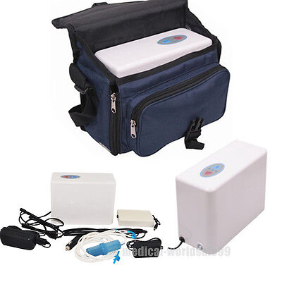 CE Handle Portable Oxygen Concentrator Generator Home Travel Car + Battery+Bag