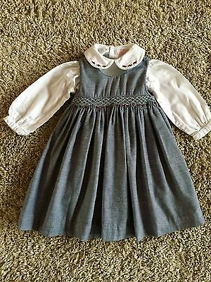 Sophie Dess Toddler Girls Smocked Dress And Top. Size 18 Months