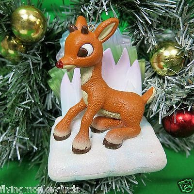 Rudolph Reindeer Carlton Cards Light Sound Christmas Ornament Sings Misfit Song