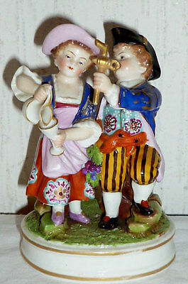 Antique Porcelain Figurine Figure Rococo Couple KPM Sceptre ????