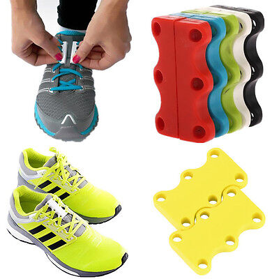Novelty Sneaker Closure No-Tie Magnetic Casual Shoelace Shoe Buckles New