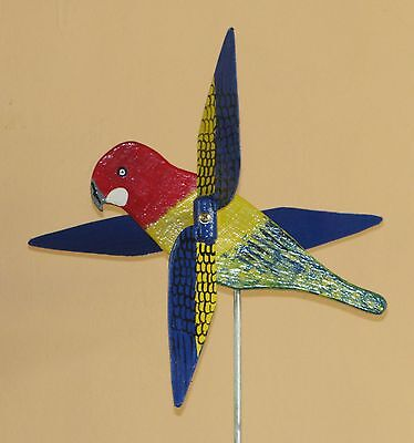 Rosella Whirligig With Spinning Wings