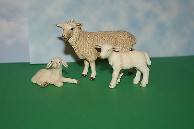 Female Sheep with (2) Lambs from Schleich Farm Animal Series Set of 3